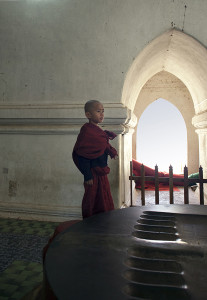 Child Monk At Ananda Temple in Bagan