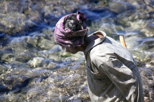 Elderly Seaweed Farmer On Nusa Penida W
