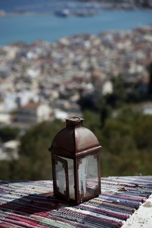 Lamp on a Roof on Zakynthos