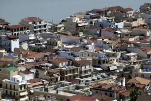 Typical View of Greek Roof Tops