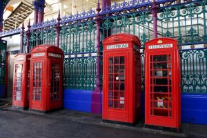Telephone Boxes Smithfield Market London