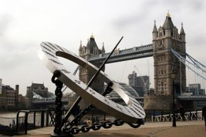 London Sundial And Tower Bridge