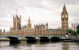 London's  Houses of Parliament And Big Ben
