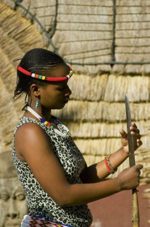 Zulu Woman in Village of Simunye