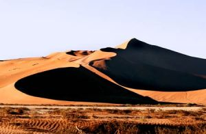 Black Holes in Sand Dunes at Soussevlei