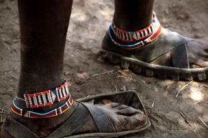 Masai Footwear from Rubber Tyres