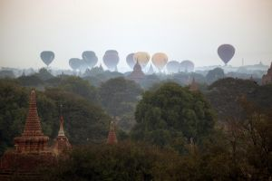 Hot Air Balloons Over Bagan