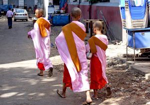 Young Nuns in Central Yangon