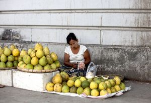 Fruit Seller in Central Yangon (Rangoon)