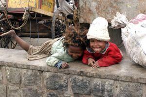 Waifs beside a Putrid River in Antananarivo