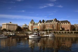 Famous Empress Hotel On Vancouver Island