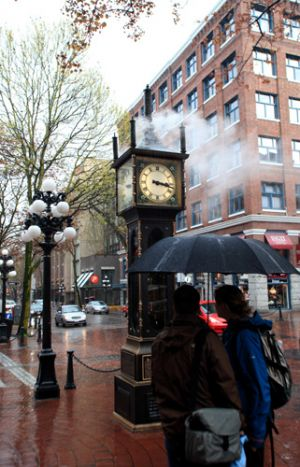 Gas Town Steam Clock Vancouver City