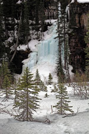 Frozen Waterfall Lake Louise