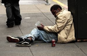 Down And Out Poverty on The Streets