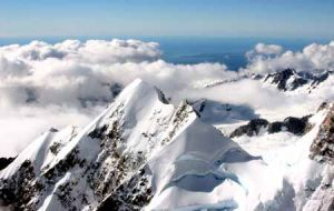 Mt Cook In The  Southern Alps