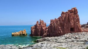 Red Rocks Arbatax Sea