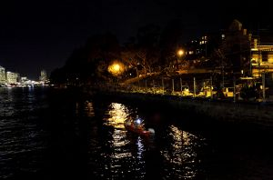 City Kayaking At Night