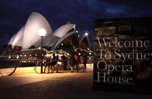 Opera House Welcome Sign