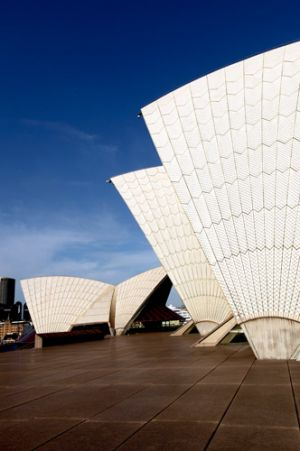 Portrait of the Opera House sails