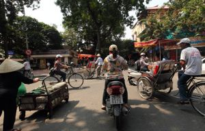 Hanoi Traffic Old and New