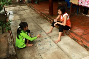 Playing 'Stones' on Binh Thanh Island