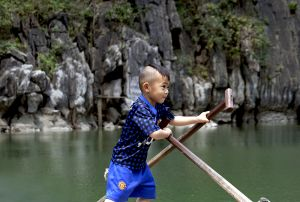 Young Rower on  Halong Bay