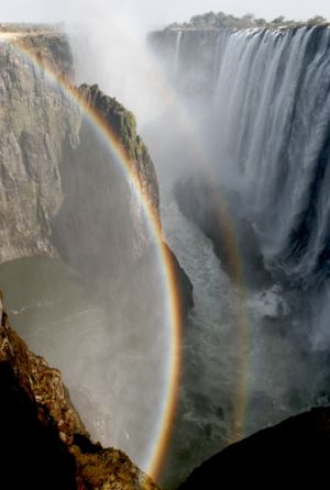 Portrait of  Victoria Falls  Zambian Side