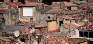 Rooftops of the Roman City of Orange, En Provence
