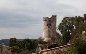 Ruins of the Medieval Tower at La Voulte Sur La Rhone