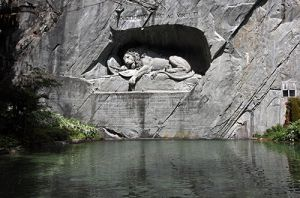 Sleeping Lioness Monument for Swiss Guards  Lucerne