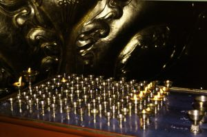 Buddhist Temple Candles