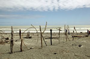 Hokitika Beach Art