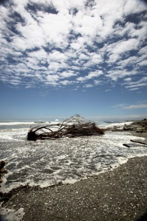 Rugged Hokitika Beach  Westland
