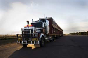 Road Train On The Capricorn Highway, Longreach