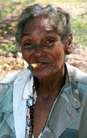 Cuban Cigar Smoking In Holguin