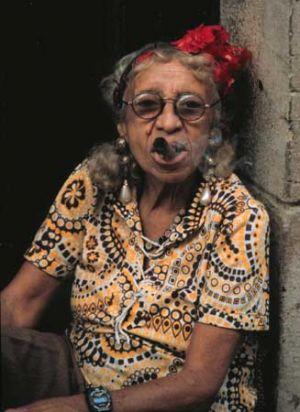 Cigar Smoking Havana Lady