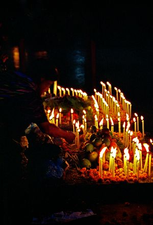 Guatemala Church Candles