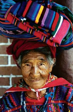 Blanket Seller in Chichicastenengo