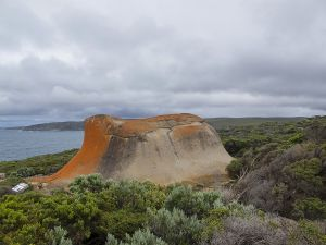 Remarkable Rocks With Red Lichen