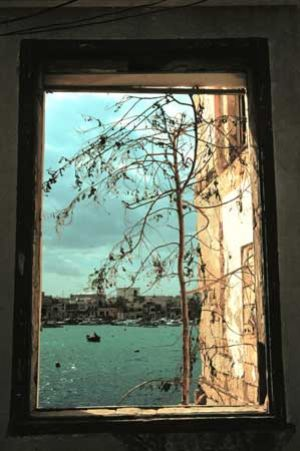 Window View Over Valetta Harbour