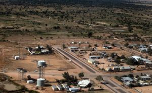 Aerial View of the Tiny Town of Birdsville