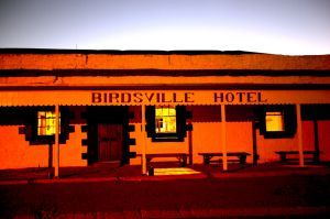 Birdsville Pub With Sunrise Glow