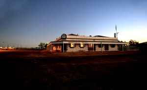 Birdsville Pub at Sunrise