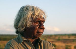 Aboriginal Man at Sunset