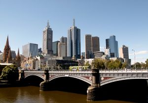 Cityscape From South Bank Melbourne