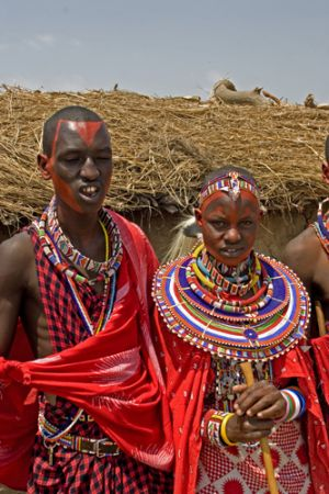 Masai Bride And Groom