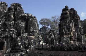 Angkor Thom Faces In Stone