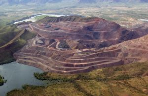 Argyle Diamond Mine From The Air