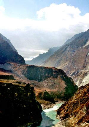 View Down Tiger Leaping Gorge SW China