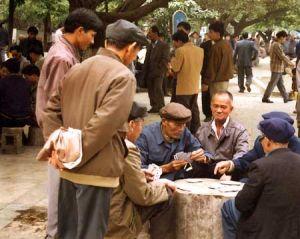 Gamblers in a Park in Nanning
